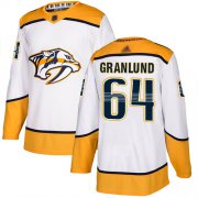 Wholesale Cheap Adidas Predators #64 Mikael Granlund White Road Authentic Stitched NHL Jersey