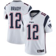 Wholesale Cheap Nike Patriots #12 Tom Brady White Men's Stitched NFL Vapor Untouchable Limited Jersey