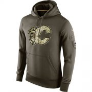 Wholesale Cheap Men's Calgary Flames Nike Salute To Service NHL Hoodie