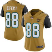 Wholesale Cheap Nike Jaguars #88 Tyler Eifert Gold Women's Stitched NFL Limited Rush Jersey
