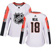 Wholesale Cheap Adidas Golden Knights #18 James Neal White 2018 All-Star Pacific Division Authentic Women's Stitched NHL Jersey
