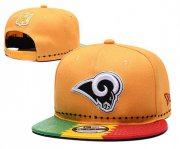 Wholesale Cheap Rams Team Logo Yellow 2019 Draft 100th Season Adjustable Hat YD