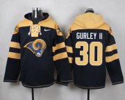 Wholesale Cheap Nike Rams #30 Todd Gurley II Navy Blue Player Pullover NFL Hoodie