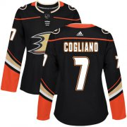 Wholesale Cheap Adidas Ducks #7 Andrew Cogliano Black Home Authentic Women's Stitched NHL Jersey
