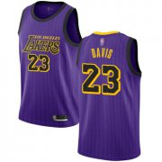Cheap Youth Lakers #23 Anthony Davis Purple Basketball Swingman City Edition 2018-19 Jersey