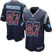 Wholesale Cheap Nike Patriots #87 Rob Gronkowski Navy Blue Team Color Men's Stitched NFL Limited Strobe Jersey