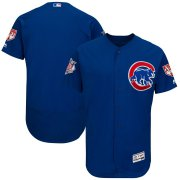 Wholesale Cheap Cubs Blank Blue 2019 Spring Training Flex Base Stitched MLB Jersey