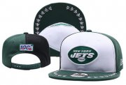 Wholesale Cheap Jets Team Logo Green Black 2019 Draft Adjustable Hat YD