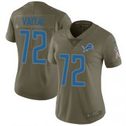 Wholesale Cheap Nike Lions #72 Halapoulivaati Vaitai Olive Women's Stitched NFL Limited 2017 Salute To Service Jersey