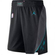 Wholesale Cheap Men's Jordan Brand Black Charlotte Hornets Icon Swingman Basketball Shorts