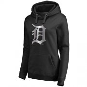 Wholesale Cheap Women's Detroit Tigers Platinum Collection Pullover Hoodie Black