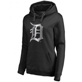 Wholesale Cheap Women\'s Detroit Tigers Platinum Collection Pullover Hoodie Black