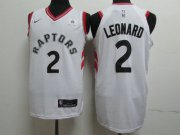 Wholesale Cheap Nike Toronto Raptors 2 Kawhi Leonard White NBA Authentic Association Edition Jersey