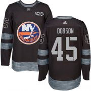 Wholesale Cheap Adidas Islanders #45 Noah Dobson Black 1917-2017 100th Anniversary Stitched NHL Jersey