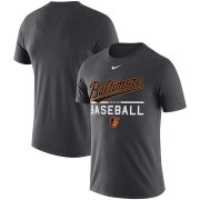Wholesale Cheap Baltimore Orioles Nike Practice Performance T-Shirt Anthracite