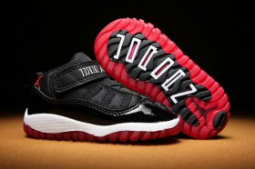 Wholesale Cheap Air Jordan 11 Kid & Baby shoes Black/White-Red
