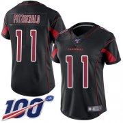 Wholesale Cheap Nike Cardinals #11 Larry Fitzgerald Black Women's Stitched NFL Limited Rush 100th Season Jersey