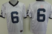 Wholesale Cheap Penn State Nittany Lions #6 White Jersey