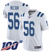 Wholesale Cheap Nike Colts #56 Quenton Nelson White Men's Stitched NFL 100th Season Vapor Limited Jersey