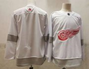 Wholesale Cheap Men's Detroit Red Wings Blank White Adidas 2020-21 Alternate Authentic Player NHL Jersey