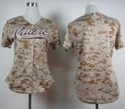 Wholesale Cheap Padres Blank Camo Alternate 2 Women's Stitched MLB Jersey