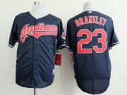 Wholesale Cheap Indians #23 Michael Brantley Navy Blue Cool Base Stitched MLB Jersey