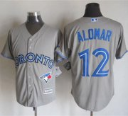 Wholesale Cheap Blue Jays #12 Roberto Alomar Grey New Cool Base Stitched MLB Jersey