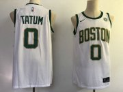 Wholesale Cheap Nike Celtics 0 Jayson Tatum White City Edition Swingman Jersey