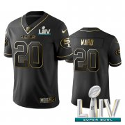 Wholesale Cheap Nike 49ers #20 Jimmie Ward Black Golden Super Bowl LIV 2020 Limited Edition Stitched NFL Jersey