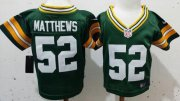 Wholesale Cheap Toddler Nike Packers #52 Clay Matthews Green Team Color Stitched NFL Elite Jersey