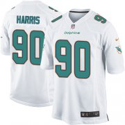 Wholesale Cheap Nike Dolphins #90 Charles Harris White Youth Stitched NFL Elite Jersey