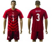 Wholesale Cheap Czech #3 Suchy Red Home Soccer Country Jersey
