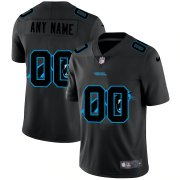 Wholesale Cheap Carolina Panthers Custom Men's Nike Team Logo Dual Overlap Limited NFL Jersey Black