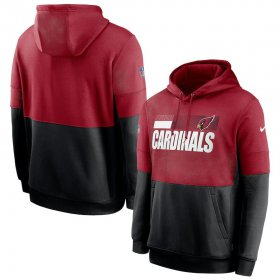 Wholesale Cheap Arizona Cardinals Nike Sideline Impact Lockup Performance Pullover Hoodie Cardinal Black