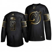 Wholesale Cheap Adidas Devils #9 Taylor Hall Men's 2019 Black Golden Edition Authentic Stitched NHL Jersey