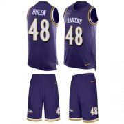 Wholesale Cheap Nike Ravens #48 Patrick Queen Purple Team Color Men's Stitched NFL Limited Tank Top Suit Jersey