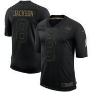 Wholesale Cheap Nike Ravens 8 Lamar Jackson Black 2020 Salute To Service Limited Jersey