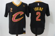 Wholesale Cheap Men's Cleveland Cavaliers #2 Kyrie Irving Revolution 30 Swingman 2016 New Black Short-Sleeved Jersey