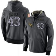 Wholesale Cheap NFL Men's Nike Arizona Cardinals #43 Haason Reddick Stitched Black Anthracite Salute to Service Player Performance Hoodie