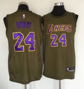 Wholesale Cheap Los Angeles Lakers #24 Kobe Bryant Olive Nike Swingman Jersey