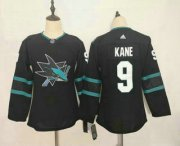 Wholesale Cheap Youth San Jose Sharks #9 Evander Kane NEW Black Adidas Stitched NHL Jersey