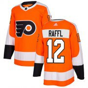 Wholesale Cheap Adidas Flyers #12 Michael Raffl Orange Home Authentic Stitched NHL Jersey