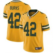 Wholesale Cheap Nike Packers #42 Oren Burks Yellow Men's Stitched NFL Limited Rush Jersey
