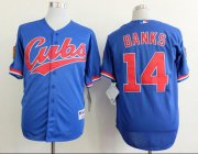 Wholesale Cheap Cubs #14 Ernie Banks Blue 1994 Turn Back The Clock Stitched MLB Jersey