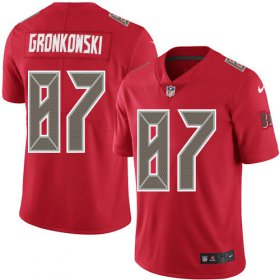 Wholesale Cheap Nike Buccaneers #87 Rob Gronkowski Red Men\'s Stitched NFL Limited Rush Jersey