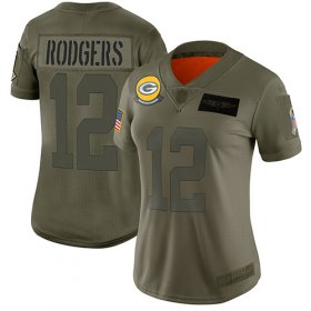 Wholesale Cheap Nike Packers #12 Aaron Rodgers Camo Women\'s Stitched NFL Limited 2019 Salute to Service Jersey