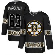 Wholesale Cheap Adidas Bruins #63 Brad Marchand Black Authentic Team Logo Fashion Stitched NHL Jersey