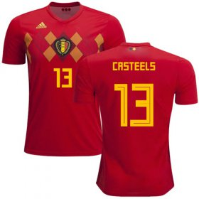 Wholesale Cheap Belgium #13 Casteels Red Soccer Country Jersey
