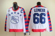Wholesale Cheap Penguins #66 Mario Lemieux White All Star CCM Throwback 75TH Stitched NHL Jersey