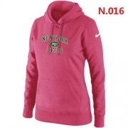 Wholesale Cheap Women's Nike New York Jets Heart & Soul Pullover Hoodie Pink